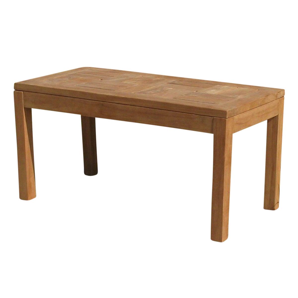 Balinese Teak Coffee Table: Bali Teak Low Rectangular Coffee Table By Eden Furniture