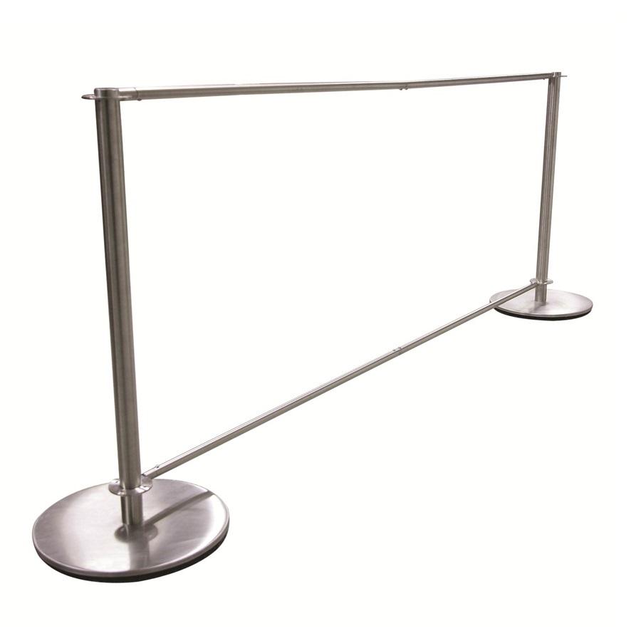 jefferson stainless steel banner system by eden furniture